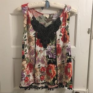 Anthropologie Meadow Rue floral blouse